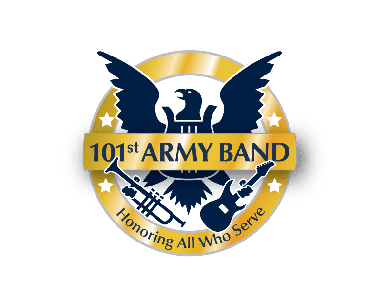 logo 101st army band with a army seal