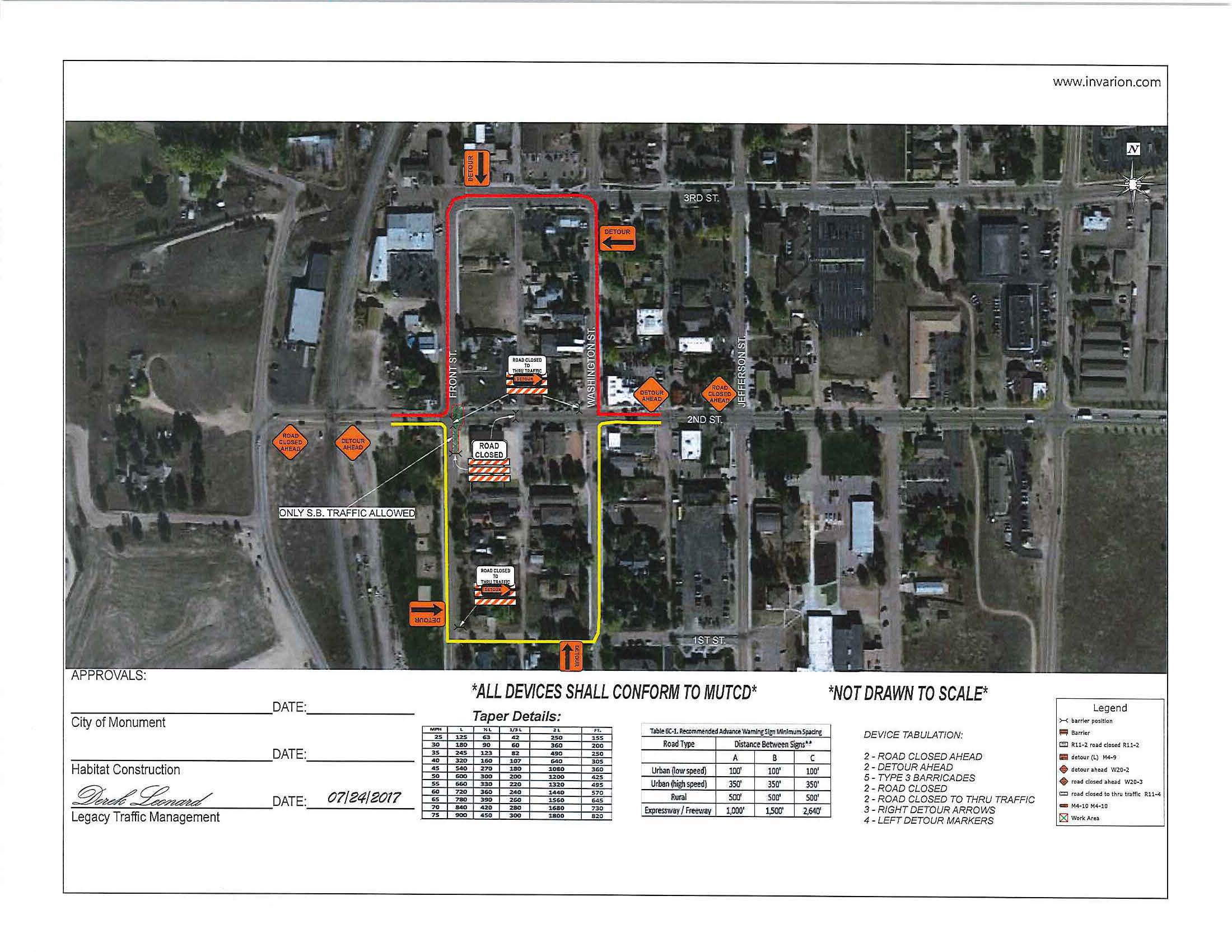 Traffic Control Plan Phase 1