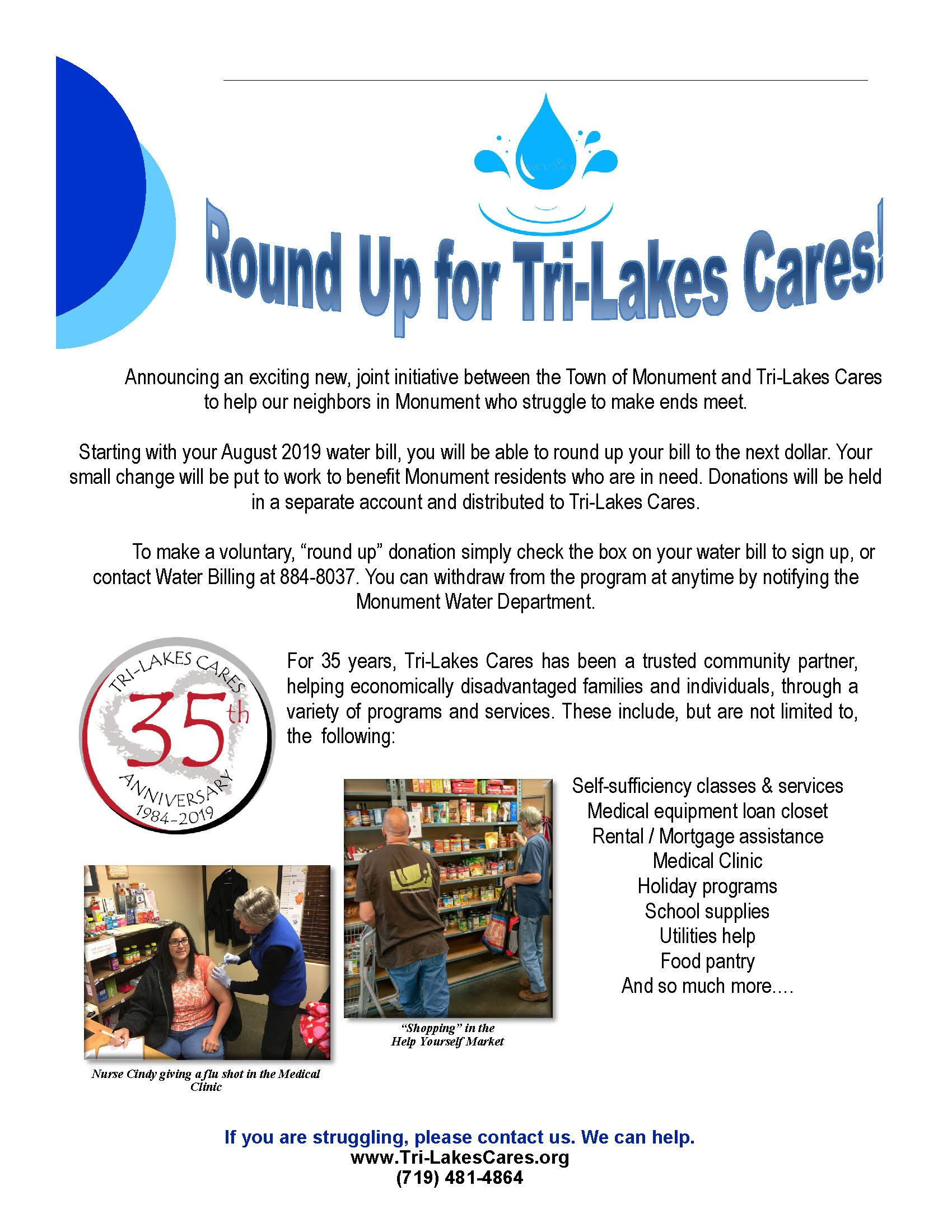 round up for tri lakes cares